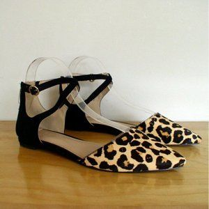 Essex Lane Tristen Leopard Print Calf Hair Flat